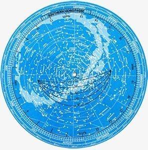 La mappa celeste girevole con la posizione della tua stella